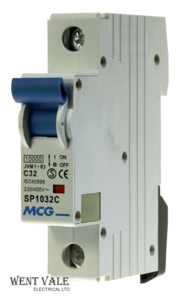 MCG JVM1 - 63 SP1032C - 32a Type C Single Pole MCB NEW